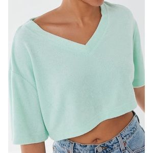Urban Outfitters Sunset Terry Cloth Cropped Top
